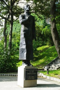 Statue of poet Osip Mandelstam in Vladivostok, where he died in a Gulag camp.